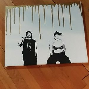 Other - Rihanna and Rocky  large canvas painting